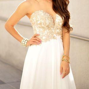 Faviana S7325 Strapless Embellished Bodice Dress